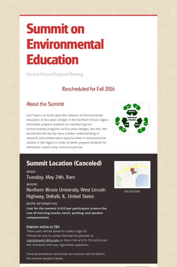 Summit on Environmental Education