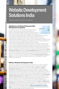 Website Development Solutions India