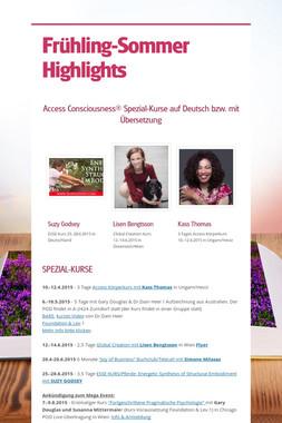 Frühling-Sommer Highlights