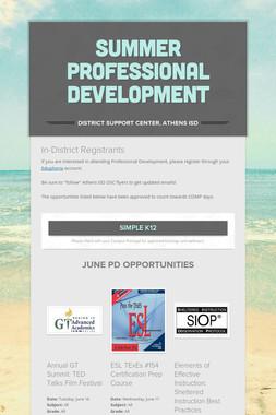 Summer Professional Development
