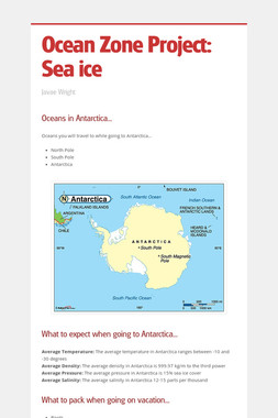 Ocean Zone Project: Sea ice