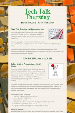 Tech Talk Thursday