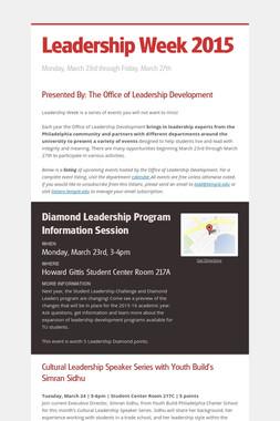 Leadership Week 2015