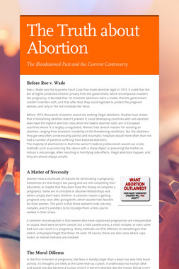 The Truth about Abortion