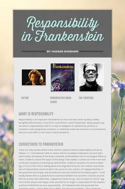 Responsibility in Frankenstein