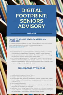 Digital Footprint: Seniors Advisory