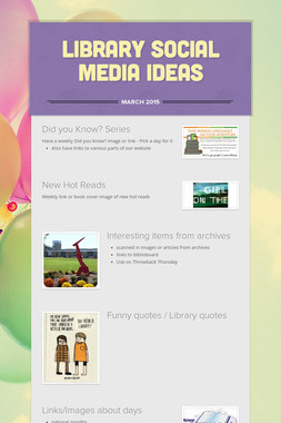Library Social Media Ideas