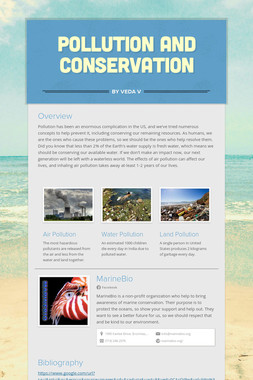 Pollution and Conservation