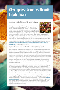 Gregory James Routt Nutrition