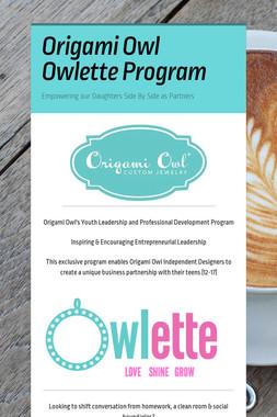 Origami Owl Owlette Program