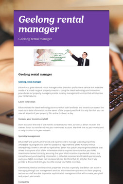 Geelong rental manager