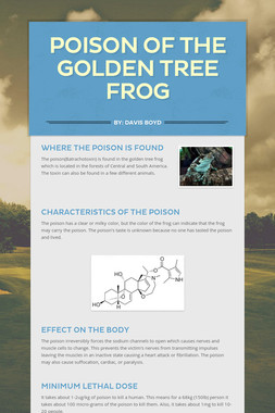 Poison of the Golden Tree Frog