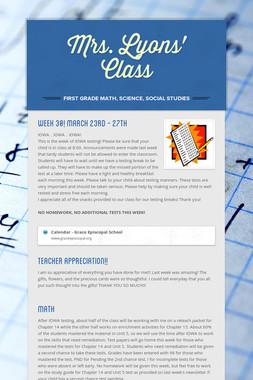 Mrs. Lyons' Class