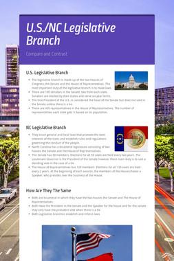 U.S./NC Legislative Branch