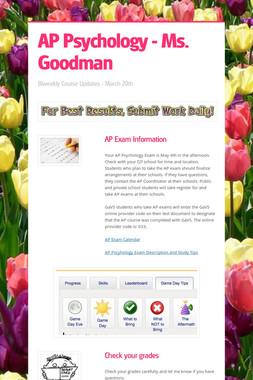AP Psychology - Ms. Goodman