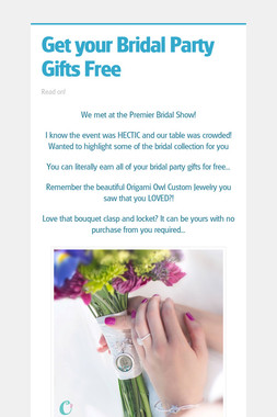 Get your Bridal Party Gifts Free