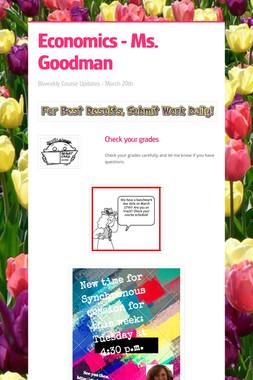 Economics - Ms. Goodman