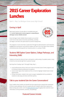 2015 Career Exploration Lunches