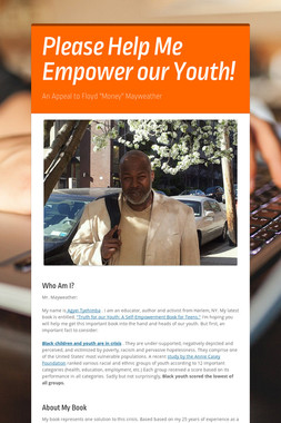 Please Help Me  Empower our Youth!