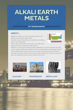 Alkali Earth Metals