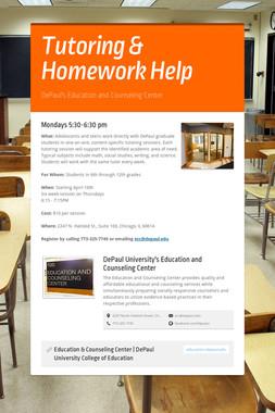 Tutoring & Homework Help