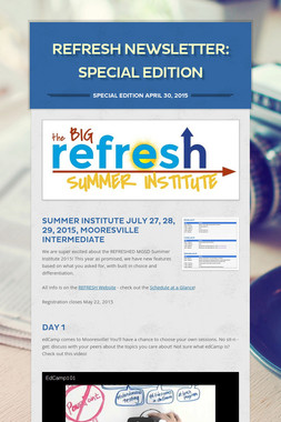 REFRESH Newsletter: SPECIAL EDITION