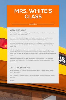 Mrs. White's Class