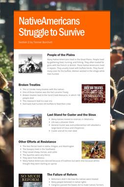 NativeAmericans Struggle to Survive