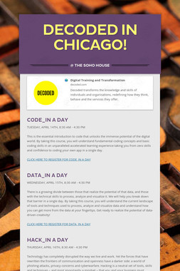 Decoded in Chicago!