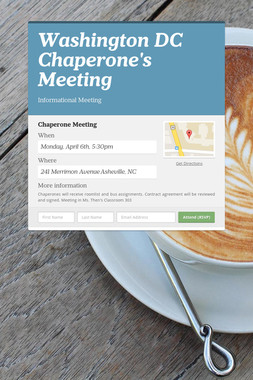 Washington DC Chaperone's Meeting