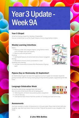 Year 3 Update - Week 9A