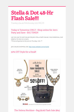 Stella & Dot 48-Hr Flash Sale!!!