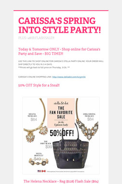 CARISSA'S SPRING INTO STYLE PARTY!