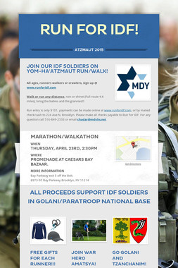 Run for IDF!