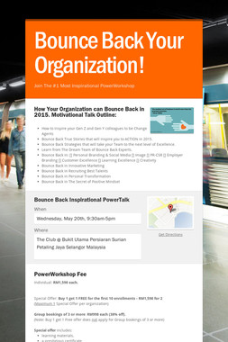 Bounce Back Your Organization!