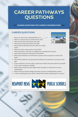 Career Pathways Questions