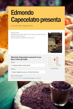 Edmondo Capecelatro presenta