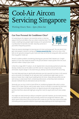 Cool-Air Aircon Servicing Singapore