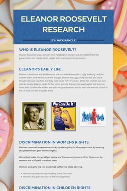 Eleanor Roosevelt Research