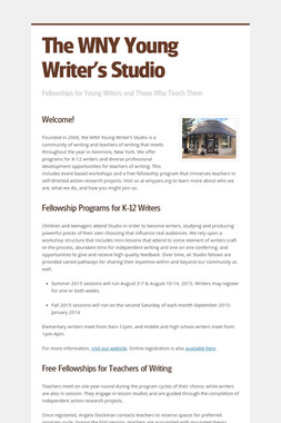The WNY Young Writer's Studio