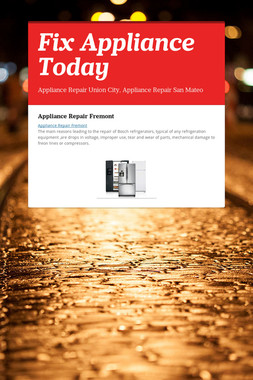 Fix Appliance Today