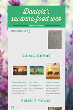 Daniela's savanna food web
