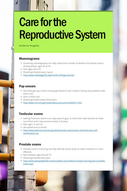 Care for the Reproductive System