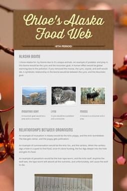 Chloe's Alaska Food Web