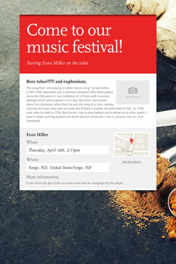 Come to our music festival!