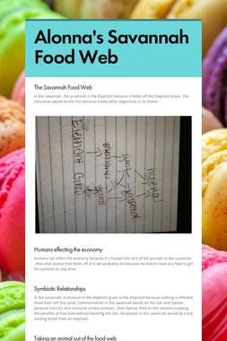 Alonna's Savannah Food Web