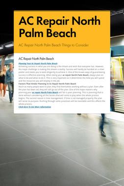 AC Repair North Palm Beach