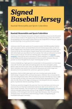 Signed Baseball Jersey