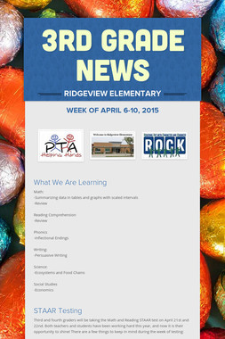 3rd Grade News