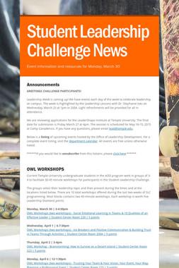 Student Leadership Challenge News